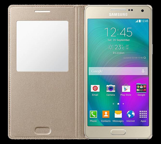 Чехол Samsung S View для Samsung Galaxy A5 500 Gold (EF-CA500BFEGRU) - 3