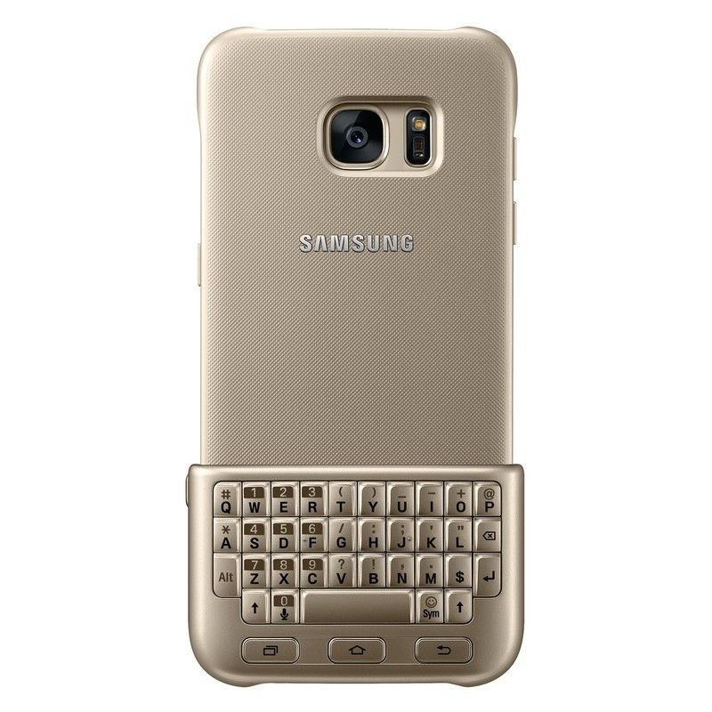 Чехол-клавиатура Keyboard Cover Samsung Galaxy S7 edge Gold (EJ-CG935UFEGRU) - 1