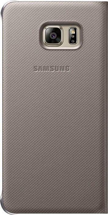 Чехол Samsung S View Cover для Samsung Galaxy S6 edge+ Gold (EF-CG928PFEGRU) - 1
