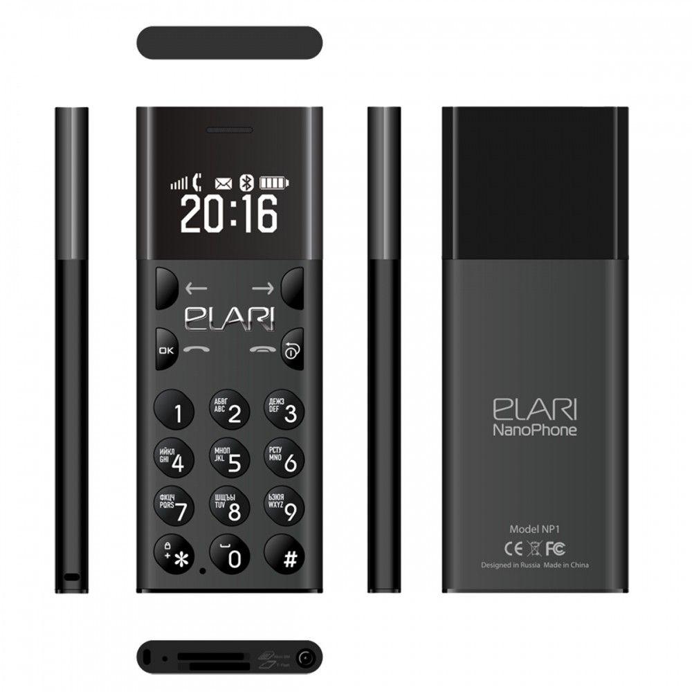 Мобильный телефон ELARI NanoPhone Jet Black (LR-NP-BL) - 2