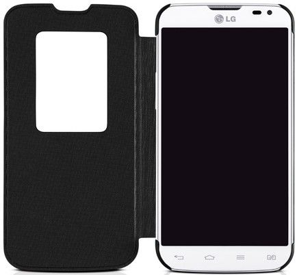 Чехол LG QUICK WINDOW для LG L90 Black (CCF-385AGEUBK) - 2
