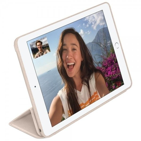 Чехол-книжка Apple Smart Case Leather для iPad Air 2 (MGTU2) Soft Pink - 4