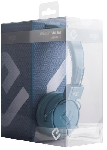 Наушники Ergo VM-360 Ash Blue - купить по цене 349 грн в Киеве ... 46a33897130