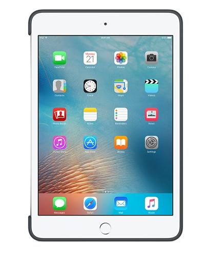Силиконовый чехол Apple Silicone Case для  iPad mini 4 (MKLK2ZM/A) Charcoal Gray - 2