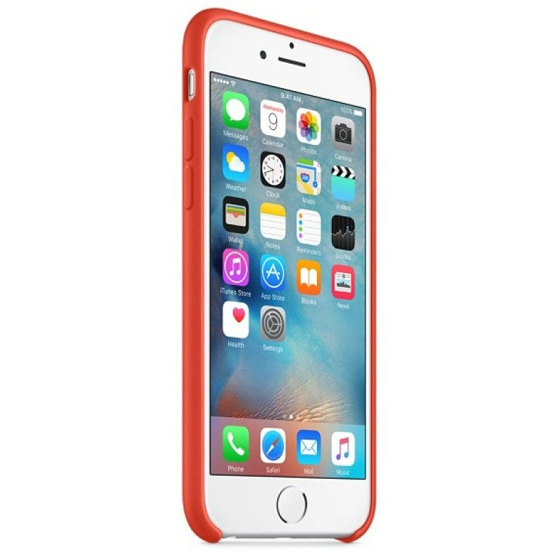 Силиконовый чехол Apple iPhone 6s Plus Silicone Case (MKXQ2) Orange  - 1