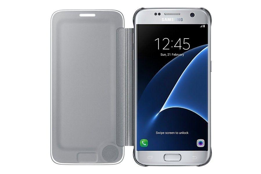 Чехол Samsung Clear Cover для Galaxy S7 Silver (EF-ZG930CSEGRU) - 3
