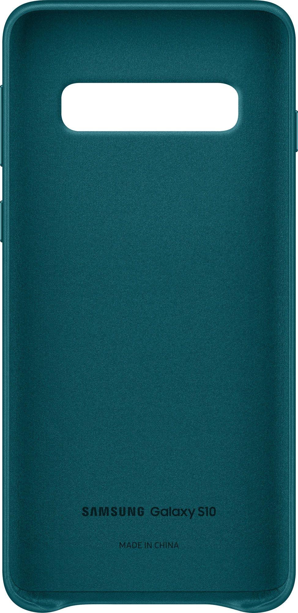 Панель Samsung Leather Cover для Samsung Galaxy S10 (EF-VG973LGEGRU) Green от Територія твоєї техніки - 2