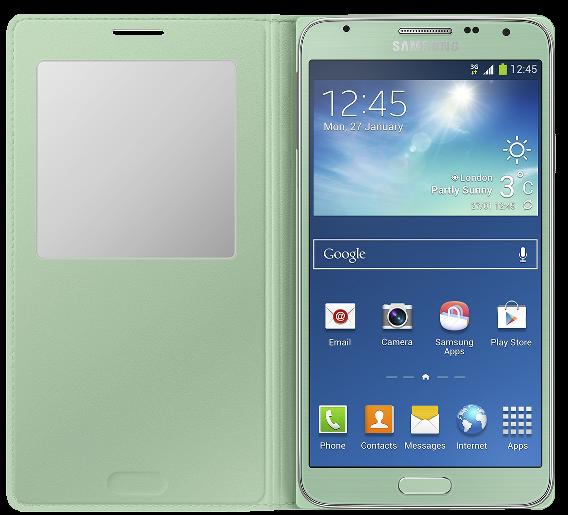 Чехол Samsung S View EF-CN750BMEGRU Mint для Galaxy Note 3 Neo - 2