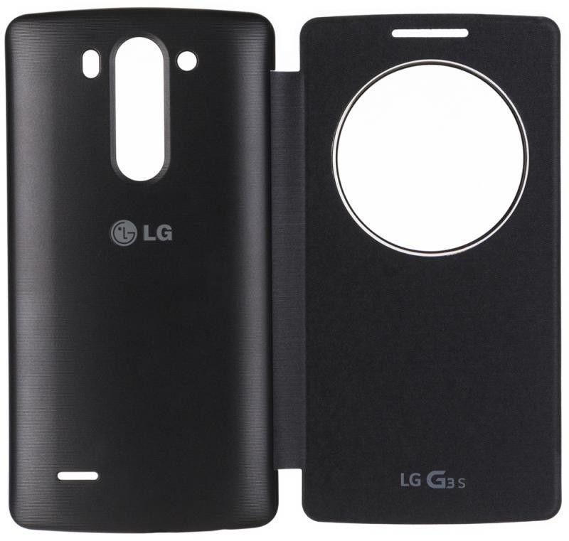 Чехол LG QuickWindow для LG G3s D724 Black (CCF-490G.AGEUTB) - 3