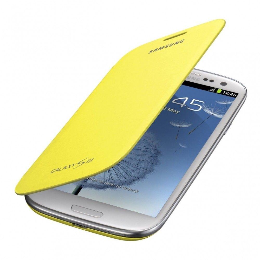 Чехол Samsung для Galaxy SIII i9300 Yellow (EFC-1G6FYECSTD) - 1