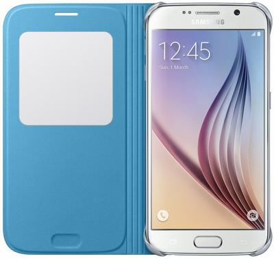Чехол Samsung S View Zero для Samsung Galaxy S6 Blue (EF-CG920BLEGRU) - 2