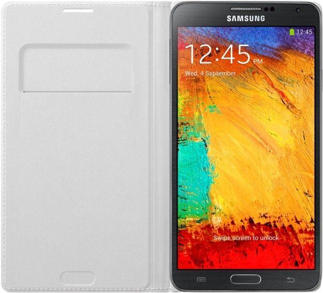 Чехол Samsung для Galaxy Note 3 Flip Wallet Jet (EF-WN900BWEGRU) White - 2