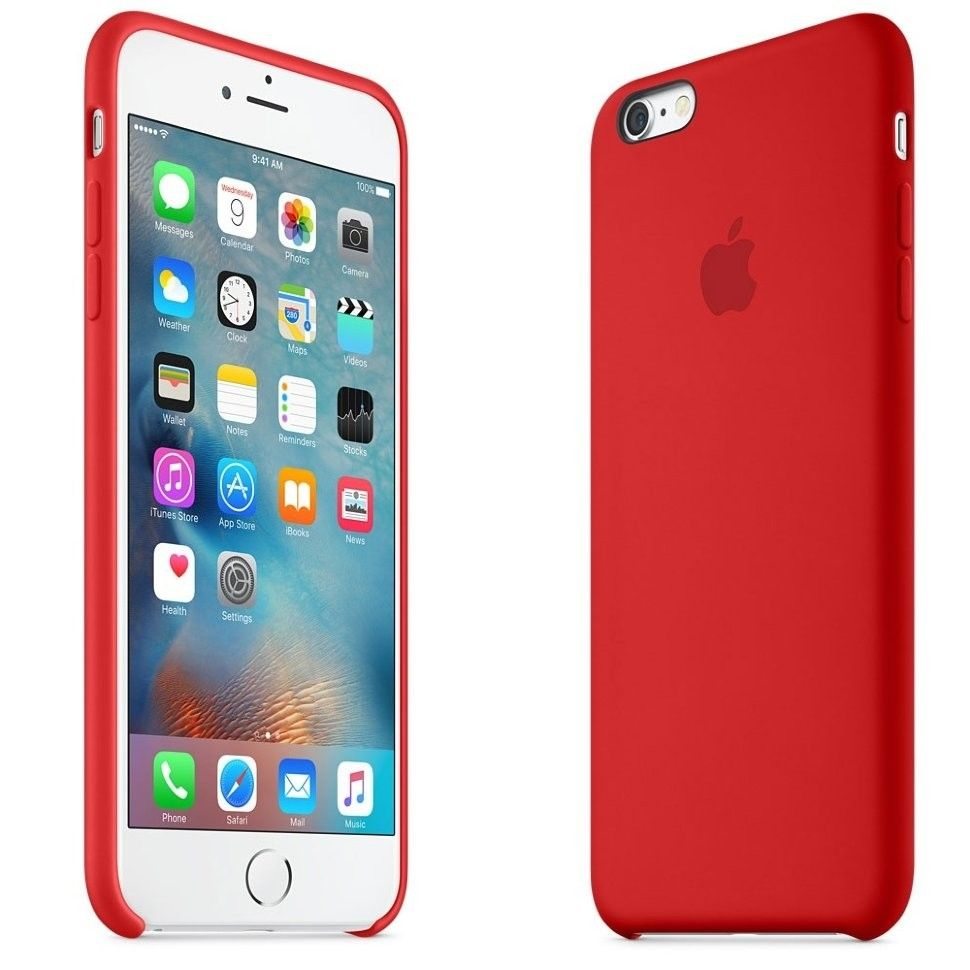Панель Apple iPhone 6s Silicone Case Red (MKY32ZM/A) - 4