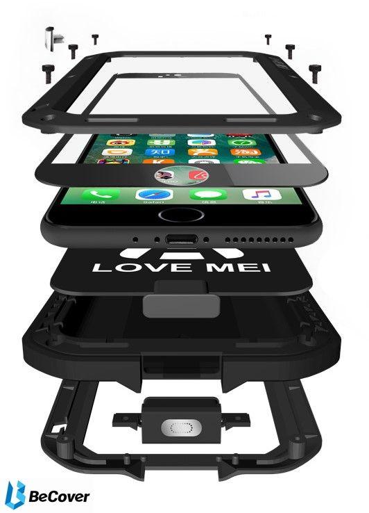 Панель Love Mei Powerful для Apple iPhone 7/8 (703116) Black от Територія твоєї техніки - 3