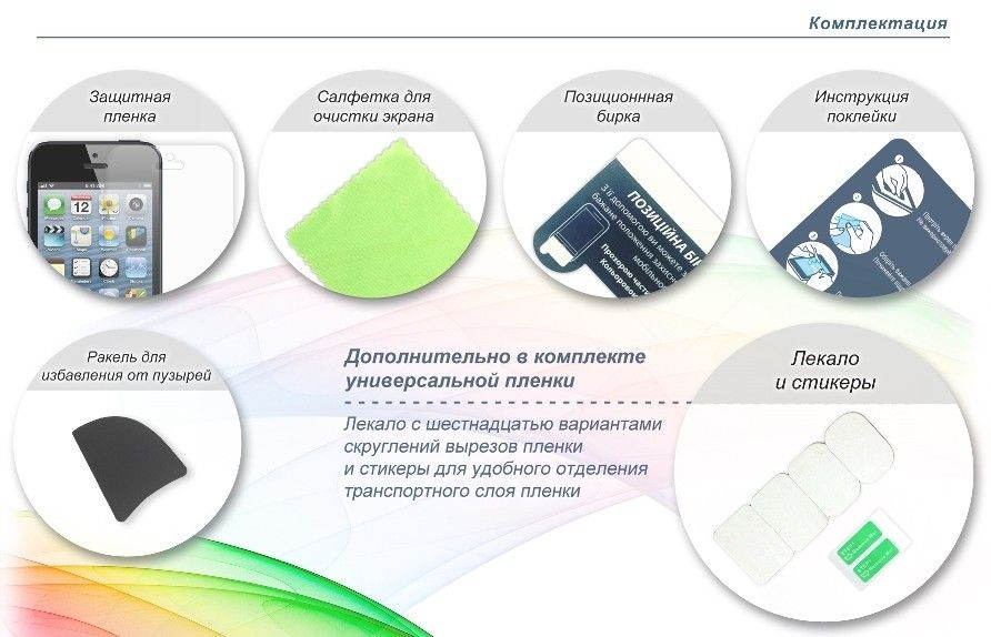Защитная пленка Global Shield ScreenWard для LG E610/E612 Optimus L5 глянцевая - 1