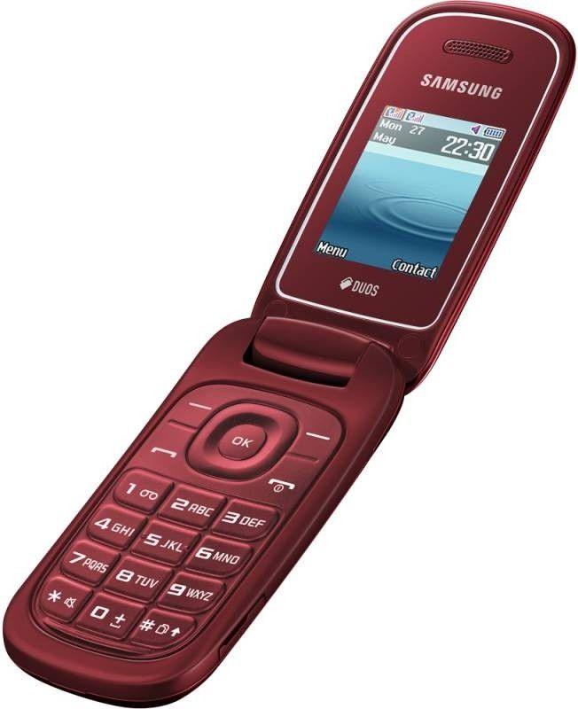 Мобильный телефон Samsung E1272 Garnet Red - 1