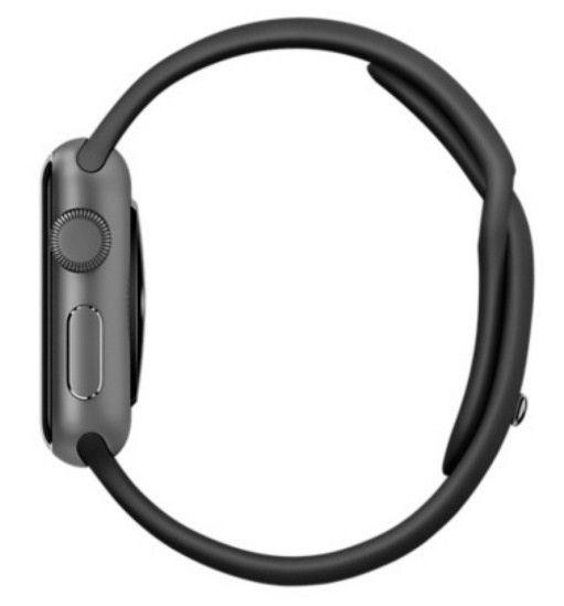 Смарт часы Apple Watch Sport 38mm Space Gray Aluminum с чёрным спортивным ремешком MJ2X2 - 1