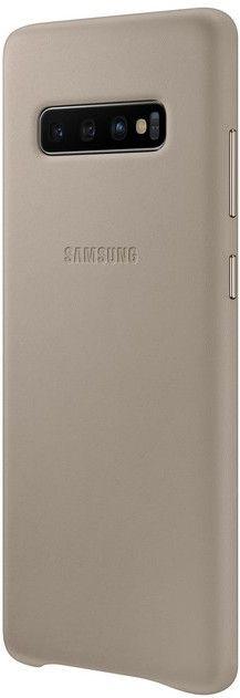 Панель Samsung Leather Cover для Samsung Galaxy S10 Plus (EF-VG975LJEGRU) Gray от Територія твоєї техніки - 3