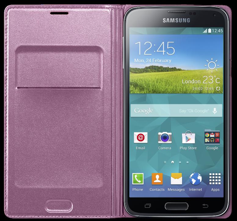 Чехол Samsung Flip Wallet для Galaxy S5 Pink (EF-WG900BPEGRU) - 1