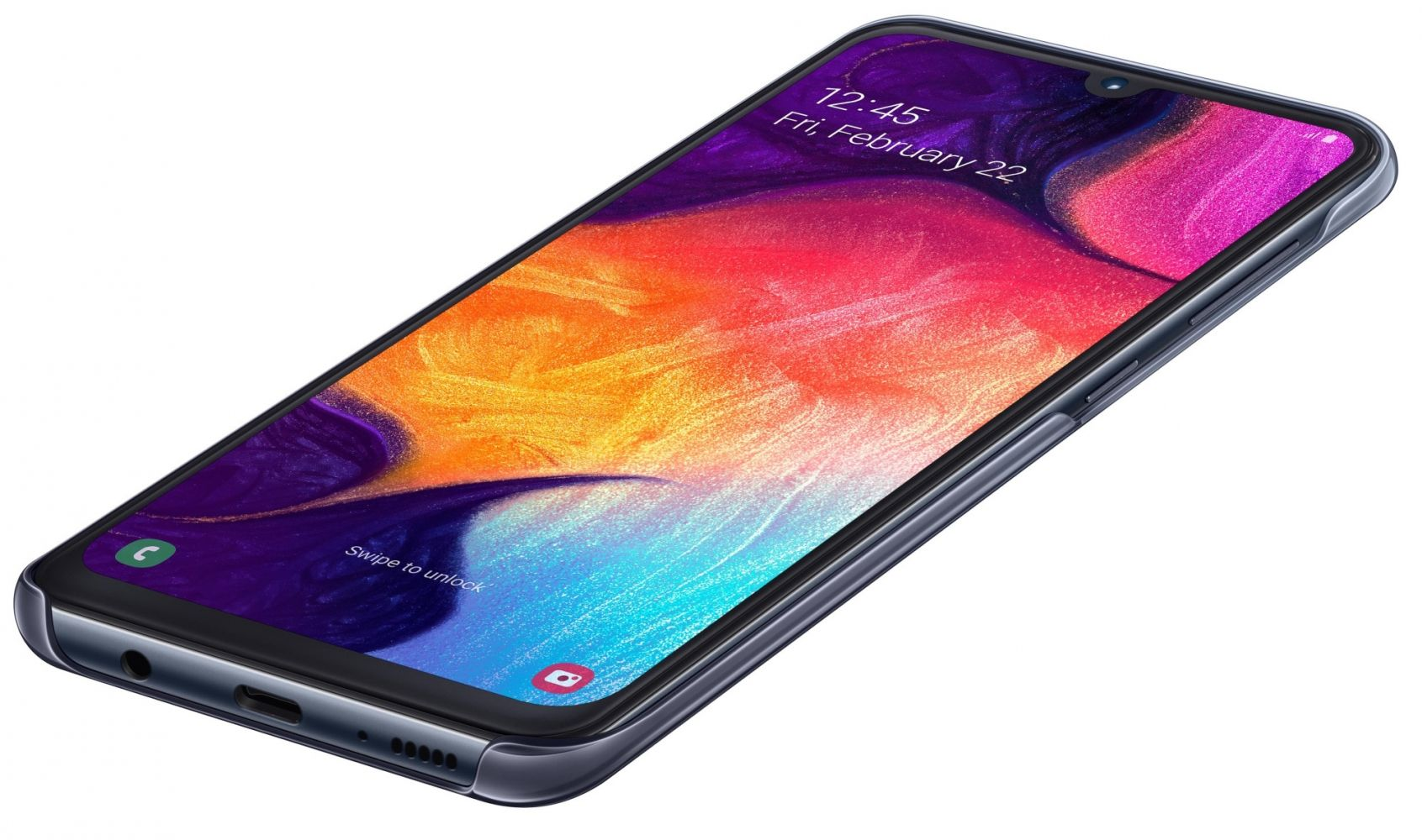 Чехол Samsung Gradation Cover для Samsung Galaxy A50 (EF-AA505CBEGRU) Black