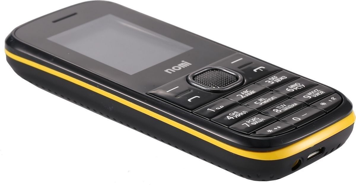 Мобильный телефон Nomi i181 Black-Yellow - 5