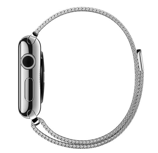Ремешок Milanese Loop для Apple Watch 38мм (MJ5E2) Silver - 4