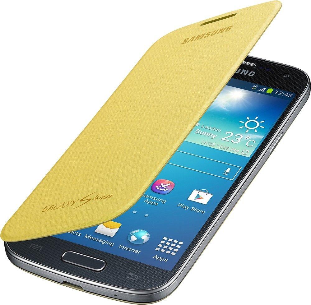 Чехол-книга Samsung для Galaxy S4 Mini Yellow (EF-FI919BYEGWW) - 2