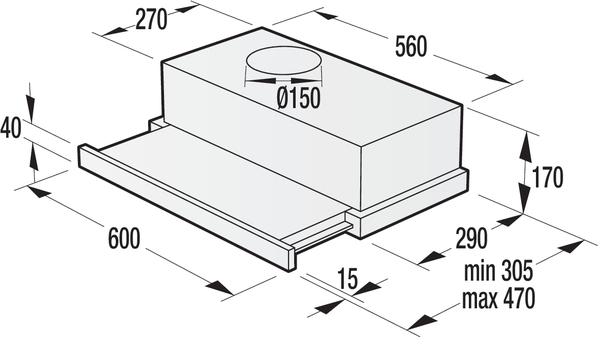 Вытяжка GORENJE BHP 623 E12X - 1