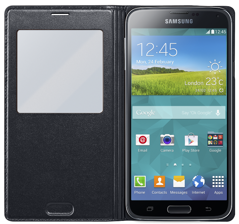 Чехол Samsung S View для Samsung Galaxy S5 Black (EF-CG900BBEGRU) - 2