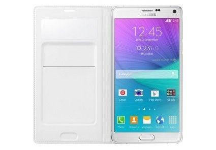 Чехол Samsung S View Wallet mini window EF-EN910FTEGRU White для Galaxy Note 4 N910 - 1