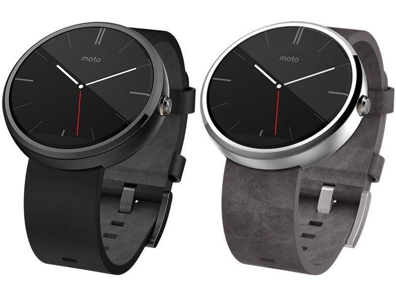 Смарт часы Motorola Moto 360 2nd Generation Smartwatch 42mm Stainless Steel with Black Leather Strap - 3