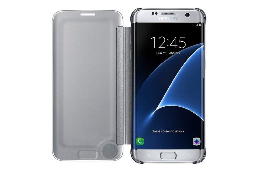 Чехол Samsung Clear View Cover для Galaxy S7 Edge Silver (EF-ZG935CSEGRU) - 3