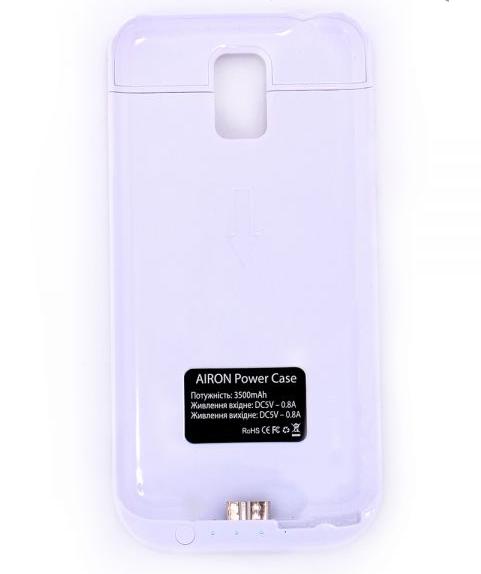 Чехол-аккумулятор AIRON Power Case для Samsung Galaxy S5 White - 3