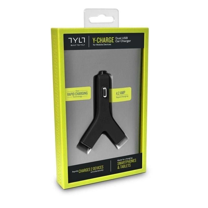 Автомобильное зарядное устройство Tylt Y-Charge Car Charger 4.2А Black (YCHG42BK-T) - 2