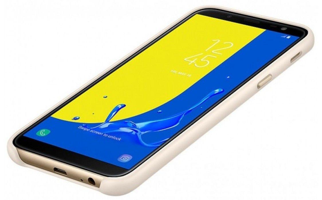 Панель Samsung Dual Layer Cover для Samsung J6 2018 (EF-PJ600CFEGRU) Gold