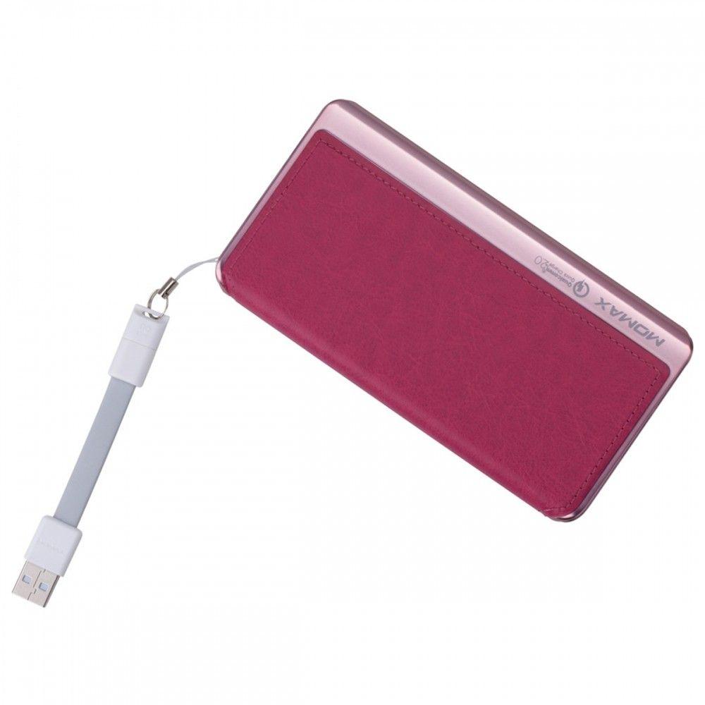 MOMAX iPower Elite+ External Battery Pack 8000mAh QC2.0 Pink (IP52AP) - 2