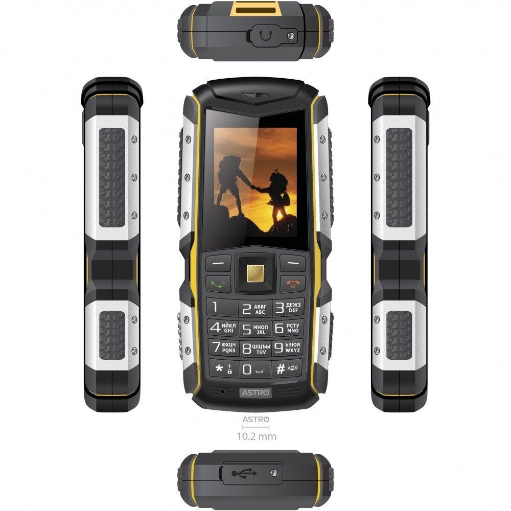 Мобильный телефон Astro A200 RX Black-Yellow - 2