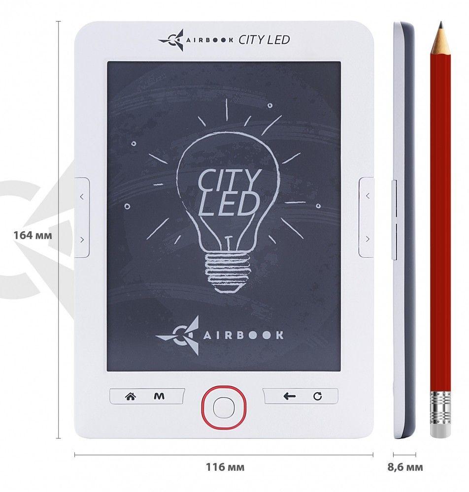 Электронная книга AirBook City LED White - 3