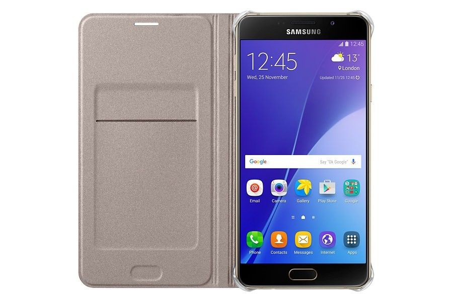 Чехол Samsung Flip Wallet для Galaxy S7 Gold (EF-WG930PFEGRU) - 3