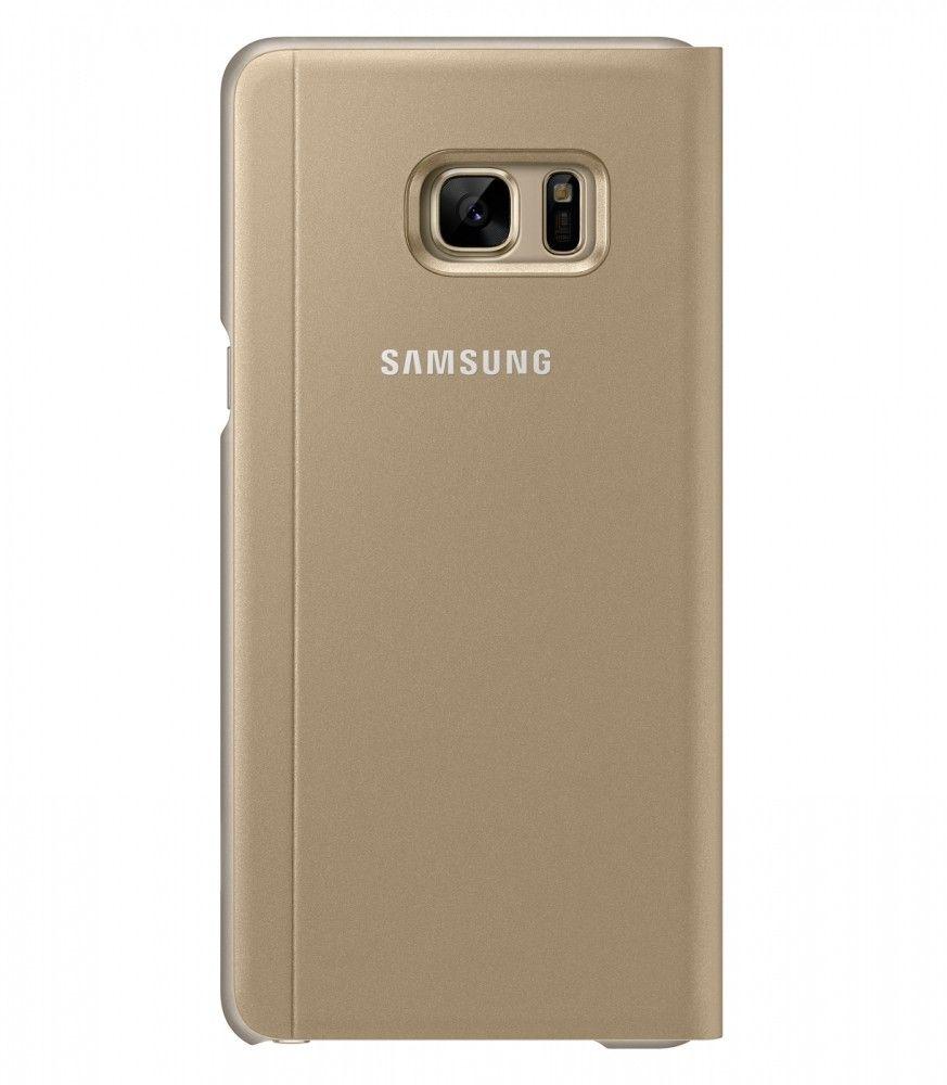 Чехол Samsung S View Cover для Samsung Galaxy Note 7 Gold (EF-CN930PFEGRU) - 1