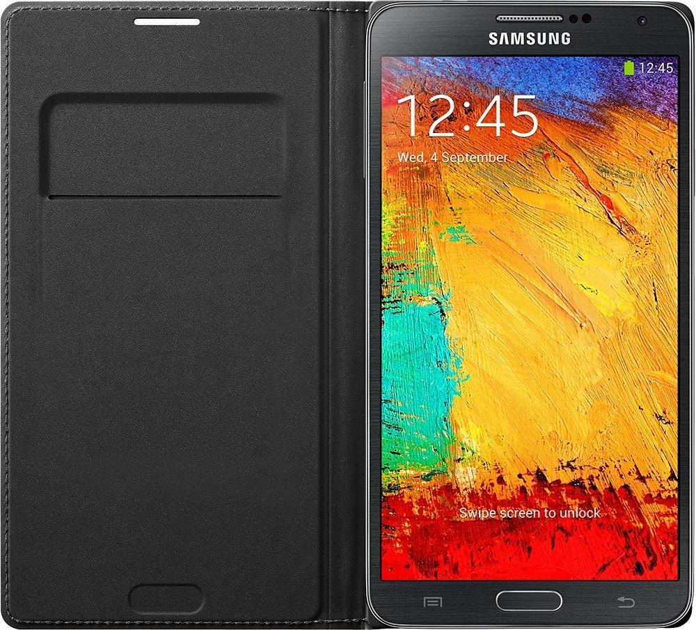 Чехол Samsung для Galaxy Note 3 Flip Wallet Jet (EF-WN900BBEGRU) Black - 3