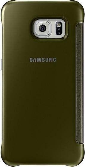 Чехол Samsung Clear View для Samsung Galaxy S6 Edge Gold (EF-ZG925BFEGRU) - 1