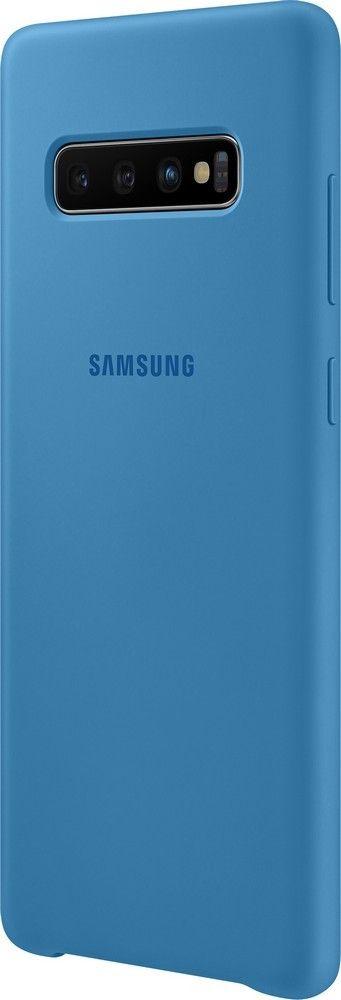 Панель Samsung Silicone Cover для Samsung Galaxy S10 Plus (EF-PG975TLEGRU) Blue от Територія твоєї техніки - 2