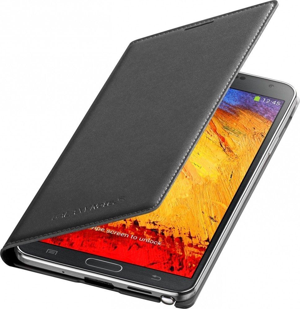 Чехол Samsung для Galaxy Note 3 Flip Wallet Jet (EF-WN900BBEGRU) Black - 1
