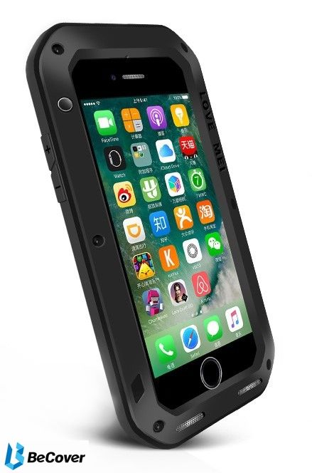 Панель Love Mei Powerful для Apple iPhone 7/8 (703116) Black от Територія твоєї техніки - 2