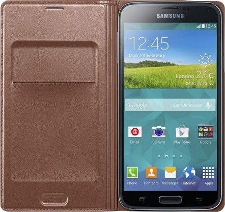 Чехол Samsung Flip Wallet для Galaxy S5 Roze Gold (EF-WG900BFEGRU) - 1