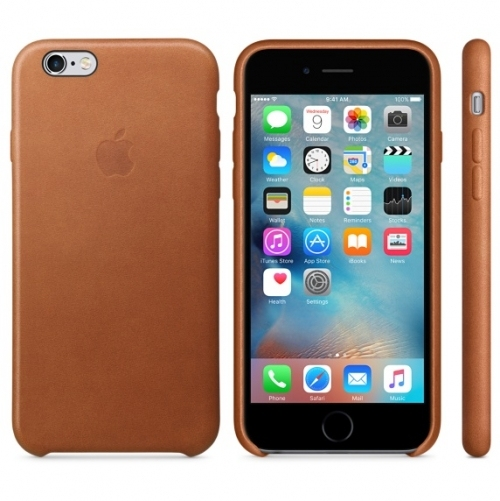 Чехол для Apple iPhone 6s Leather Case Saddle Brown (MKXT2ZM/A) - 2