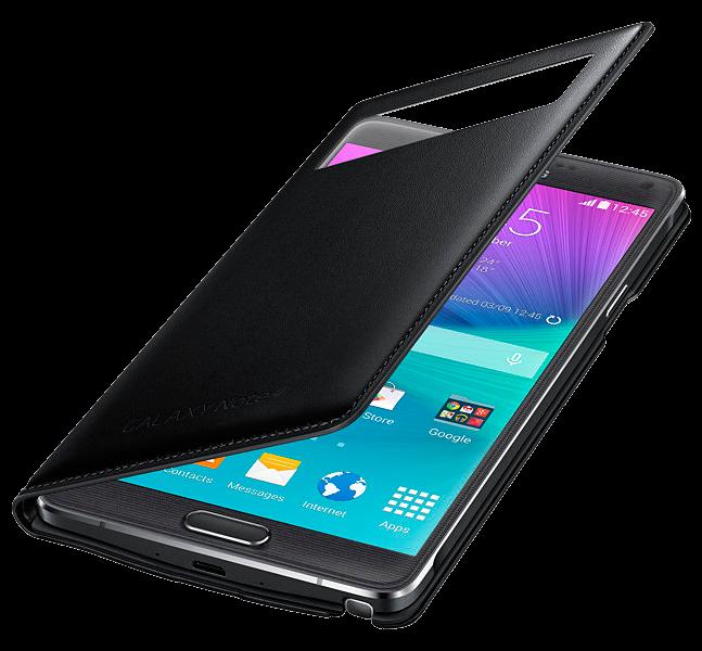 Чехол Samsung S View Wallet mini window EF-EN910FKEGRU Black для Galaxy Note 4 N910 - 1