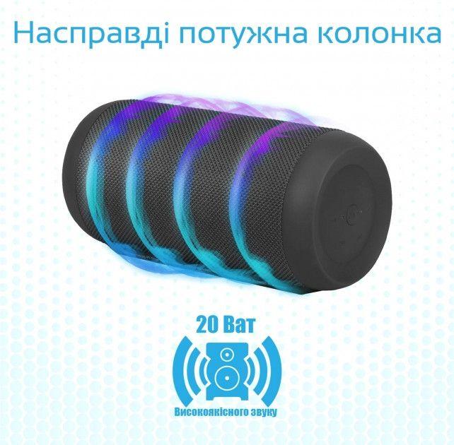 Портативная акустика Promate Silox Pro Black от Територія твоєї техніки - 2