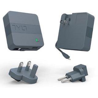 Портативная батарея Tylt Energi 6K+ Smart Travel Charger + PowerBank 6000mAh with Lightning cable Gray (IP5NRG6TCGY-EUK) - 1